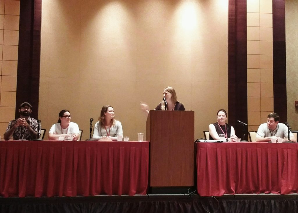 agents and editors at HippoCamp 2016 - eric smith, nicole frail, laura apperson, moderator Donna Talarico, Veronica Park, Jeff Kleinman